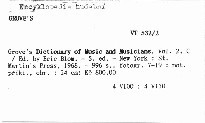 Grove's Dictionary of Music and Musicians                         (Vol. 2, C-E)
