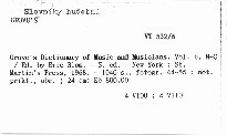 Grove's Dictionary of Music and Musicians                         (Vol. 6, N-Q)