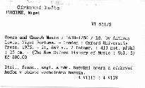 Opera and Church Music