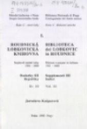 Roudnická lobkovická knihovna                         (Sv. 10)