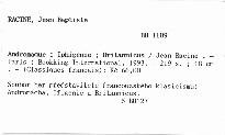 Andromaque; Iphigénie; Britannicus