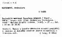 Zasloužilá umělkyně Jaroslava Adamová