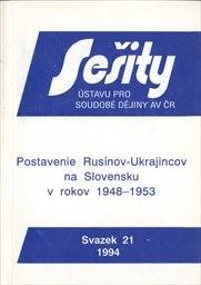 Postavenie Rusínov-Ukrajincov na Slovensku v rokoch 1948-1953