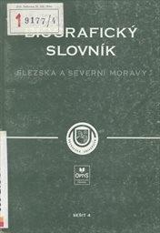 Biografický slovník Slezska a severní Moravy                         (Seš. 5)