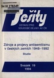Zdroje a projevy antisemitismu v českých zemích 1948-1992