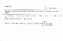 Výroční zpráva Státního ústředního archivu v Praze za rok 1995