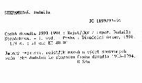 Česká divadla 1993-1994
