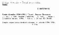 Česká divadla 1994-1995