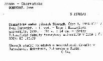 Dramatické umění jižních Slovanů                         (Část 1)