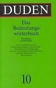 Der Duden in 10 Bänden                         (Bd. 10)