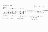 Antisemitism World Report 1995