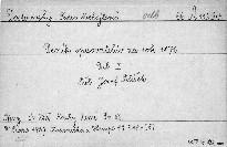 Deník spisovatelův za rok 1876                         (Díl 1)