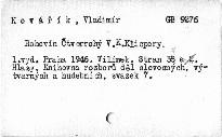 Rohovín Čtverrohý V. K. Klicpery.
