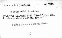 O Praze mládí F. L. Věka