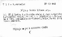 Dějiny české literatury