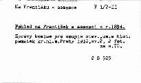 Zprávy komise pro soupis stavebních, uměleckých a historických památek král. hlav. města Prahy                         (Sv. 2)