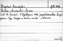 Češko - slovenski slovar.