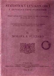 Statistický lexikon obcí na Moravě a ve Slezsku