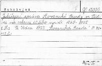Jubilejní zpráva Slovanské besedy ve Vídni na