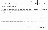 Veda a ĺudstvo 1977