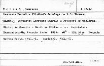 L. Durrell-E. Jennings-R.S. Thomas.