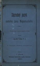 Zázračný jazyk svatého Jana Nepomuckého
