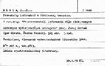 Prevodníky informácií v číslicovej technike.