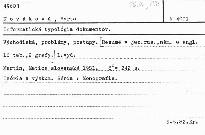 Informatická typológia dokumentov.