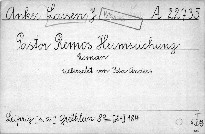 Pastor Remos Heimsuchung
