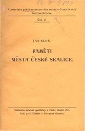 Paměti města Česká Skalice
