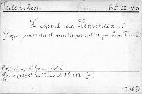 L'esprit de Clemenceau.