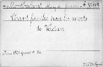 Chant funebre pour les morts de Verdun.