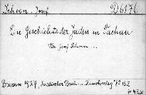 Die Geschichte der Juden in Tachau