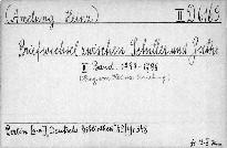 Briefwechsel zwischen Schiller und Goethe.