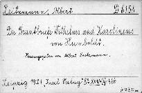 Die Brautbriefe Wilhelms und Karolinens von
