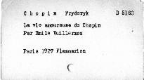 La vie amoureuse de Chopin