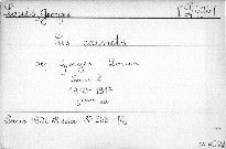 Les carnets de Georges Louis