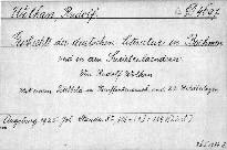 Geschichte der deutschen Literatur in Böhmen