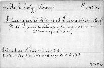 Literargeschichte und Literarwissenschaft