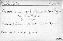 Les maitresses authentiques de lord Byron
