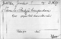 Jana Ev. Purkyně korespondence I.
