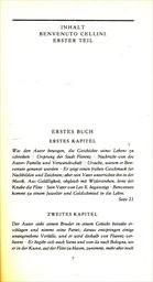 Leben des Benvenuto Cellini,florentinischen