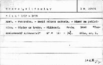Dílo 1. - Pantomima 1919-1926.