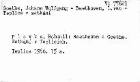 Beethoven a Goethe. Setkání v Teplicích