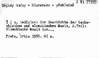 Zur Geschichte der tschechischen und slowakischen Musik