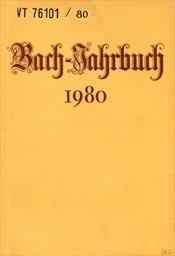 Bach-Jahrbuch.66. Jahrgang 1980