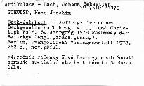 Bach-Jahrbuch.64. Jahrgang 1978