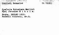 Symfonie Bohuslava Martinů