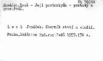 Leoš Janáček. Sborník statí a studií
