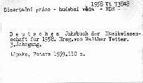 Deutsches Jahrbuch der Musikwissenschaft für